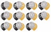 Any age, large balloon arrangement, gold, black, silver - INFLATED