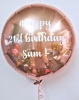 Personalised balloon in a box - various colours