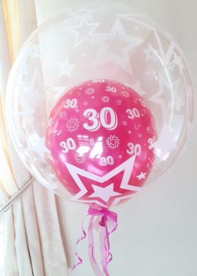 Any age, pink balloon in a balloon