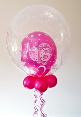 16th birthday balloon in pink