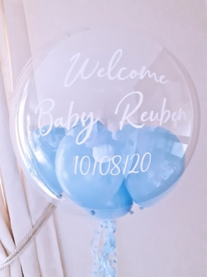 Personalised Balloon, Light Blue