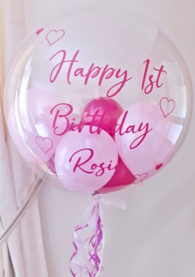 Personalised Balloon, Pinks