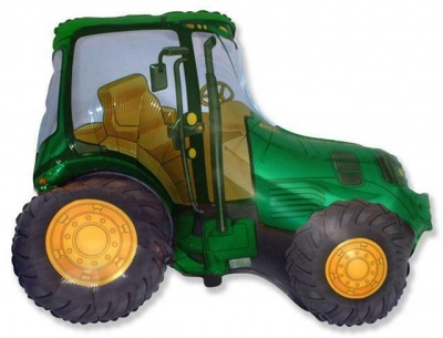 Green tractor supershape balloon