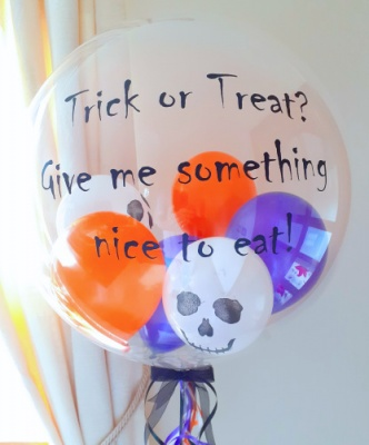 Halloween balloon with personalised message