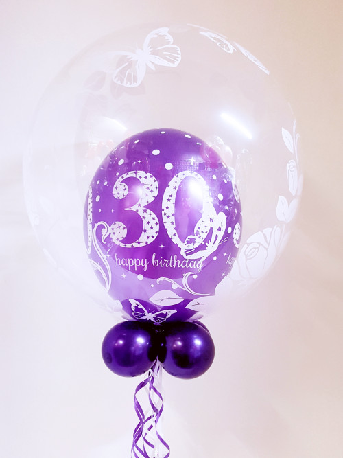 Any age, purple balloon in a balloon (butterfly)