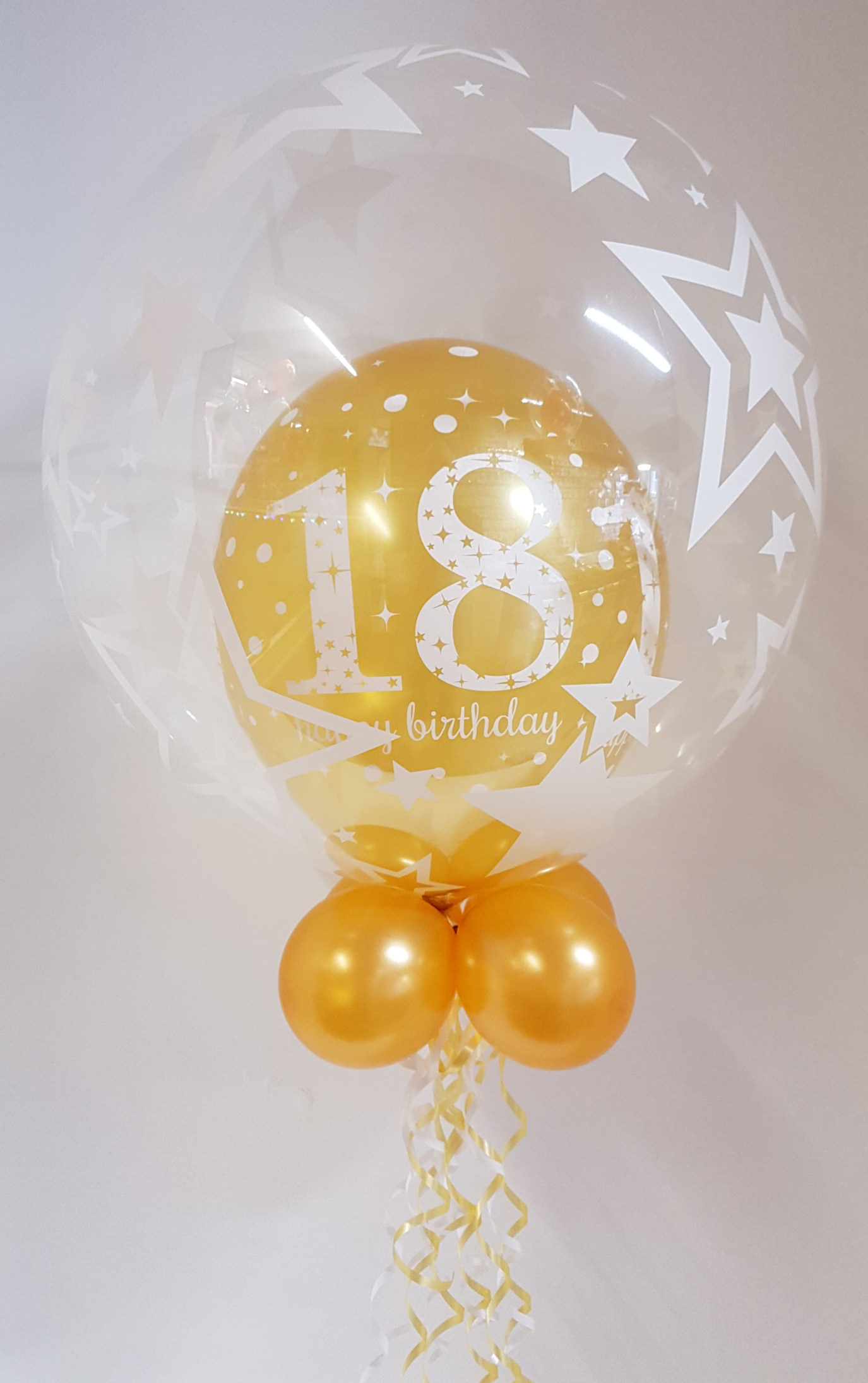 Any age, gold balloon in a balloon