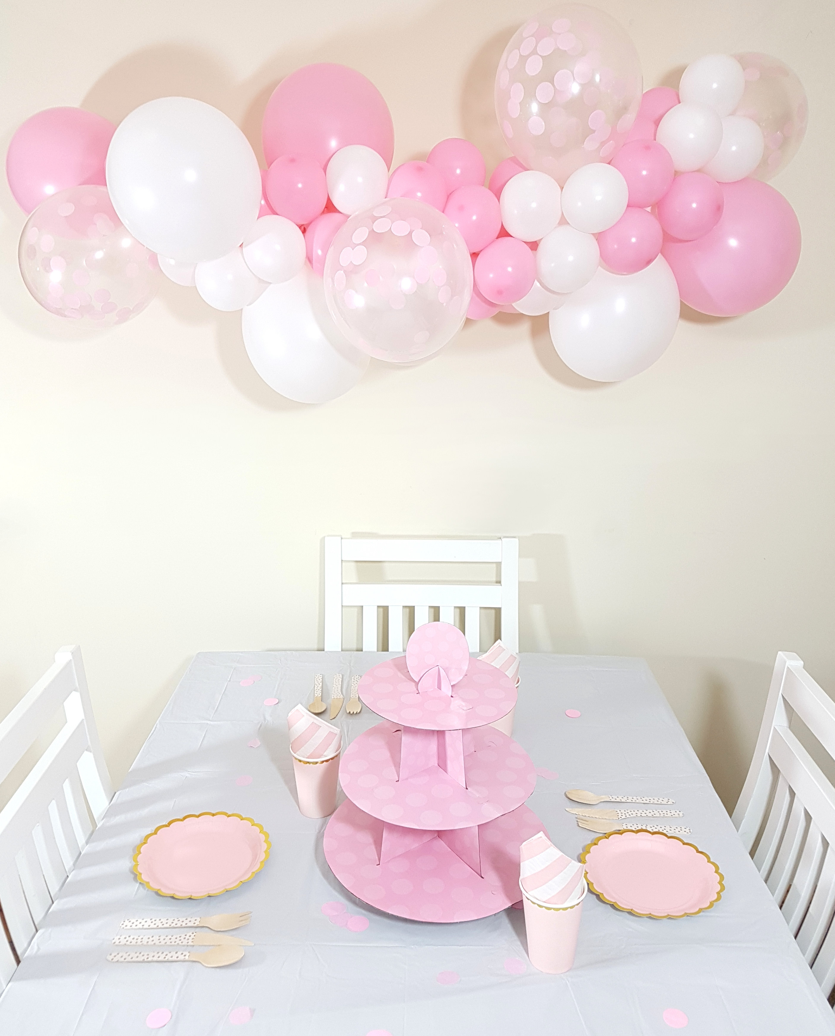 Pink confetti balloon cloud kit