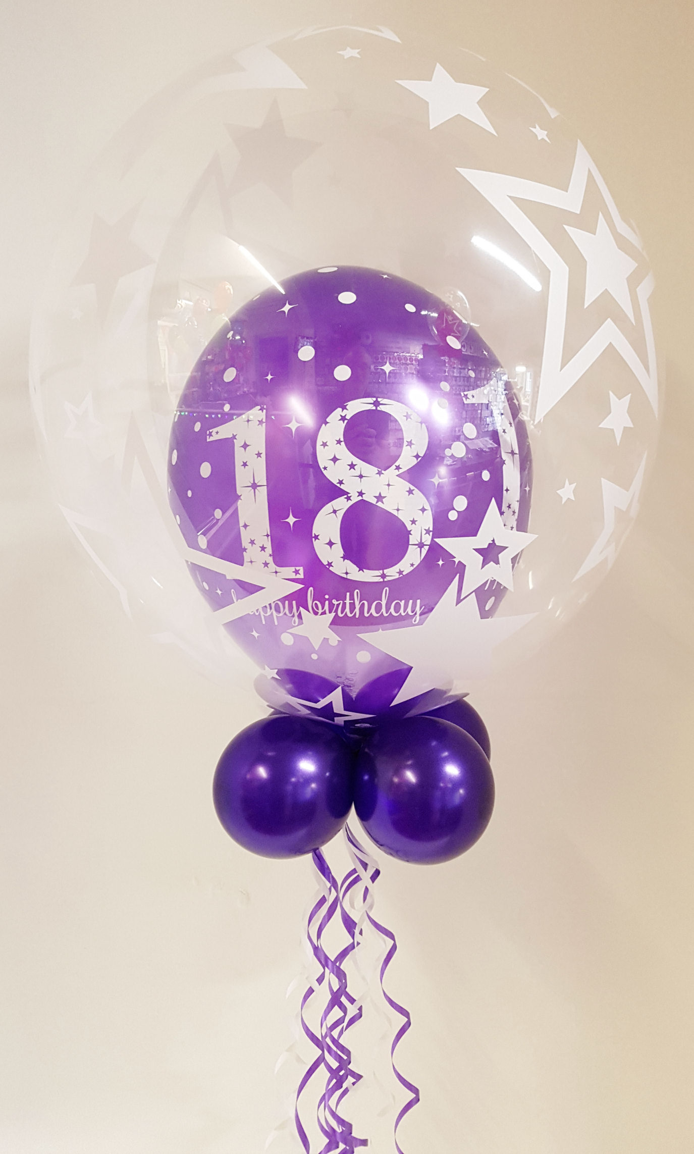 Any age, purple balloon in a balloon