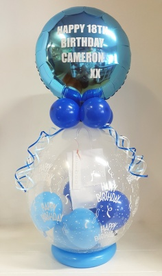 Message in a balloon gift - personalised