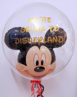 Mickey mouse bubble balloon Disney surprise