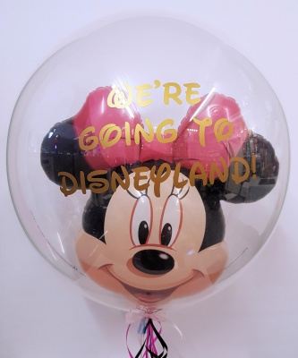 Minnie mouse bubble balloon Disney surprise