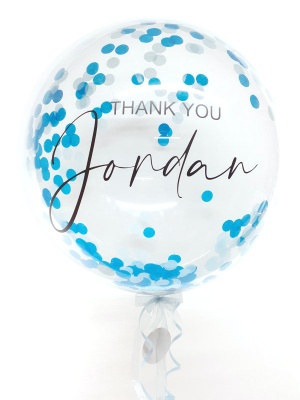 Design your own personalised confetti balloon