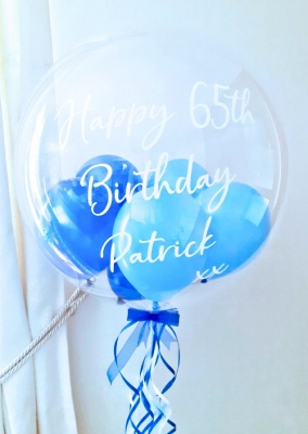 Personalised Balloon, Blues