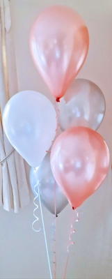 Rose gold balloon arrangement